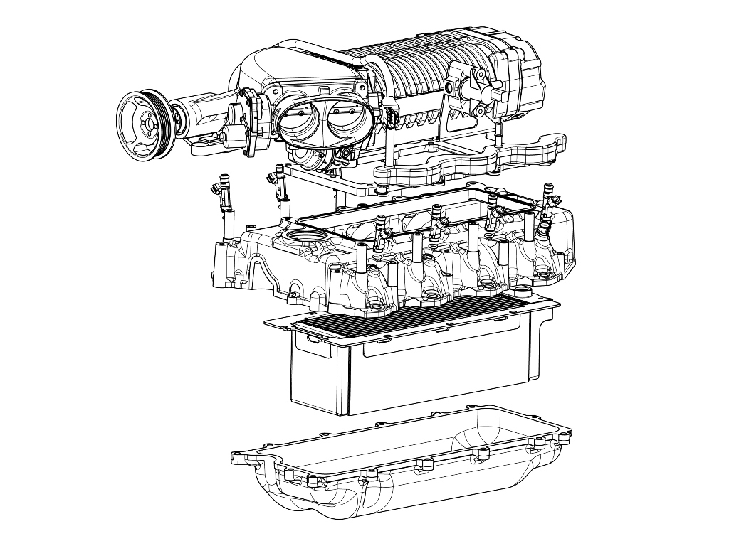Whipple Ford Raptor Supercharger System 2005 4 6l F 150 Engine Pulley Diagram Line Drawing