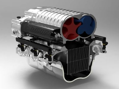 cut away image of whipple twin screw supercharger
