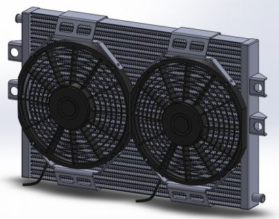 whipple dual fan mustang heat exchanger