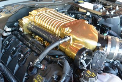 Whipple S550 Mustang Supercharger gold