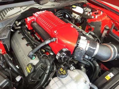 whipple supercharger s550 red finish